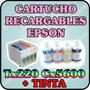 Cartuchos Recargables Para Epson 73n T220 Cx 5600 Con Tinta