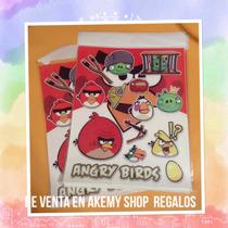 Angry Birds 10 Planillas Calcomanías Artículos De Fiesta