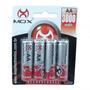 Conjunto Com 4 Pilhas Recarregáveis Mox Aa 3000 Mah 1.2v