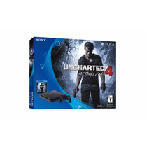 Playstation 4 Slim Sony 500gb Ps4 - Pré Venda C/ Uncharted 4