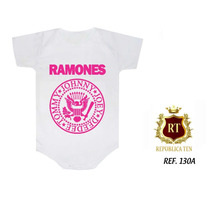 Body Bori Infantil Ramones Bandas Rock N