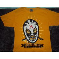 Playera Lucha Libre Luchador Mil Mascaras Talla S