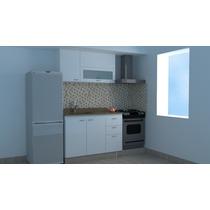 Mueble-cocina-combo 1,20 Mt-armado Melamina 18 Mm-blanco