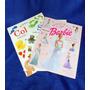3 Libros De Calcomanias (stcikers) Barbie , Sizes Y Colors