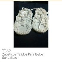 Bellísima Sandalias Para Bebe Tejidas Ajustable T 17 A 21