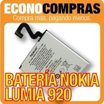 Batería Bp-4gw Para Nokia Lumia 920 Original 100% Nueva!!!!!