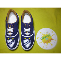 Zapatillas Quilmes Athletic Club Pintadas A Mano
