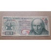 Billete México 10 Pesos Hidalgo 1977