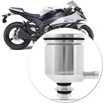 Reservatorio Oleo Moto Esportivo Dianteiro Aluminio Prata