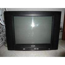 Tv Philips 21 Polegadas,tela Plana, Controle Remoto,perfeita