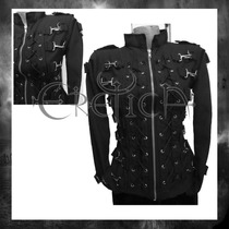 Chamarra Eretica Ropa Dark Gotico,metalero,rokero Poliester3
