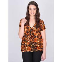 Blusa Plus Size Cashequere Feminina Donna Pack - Estampado