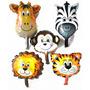 15 Balão Metalizado Safari , Animais P/ Centro De Mesa