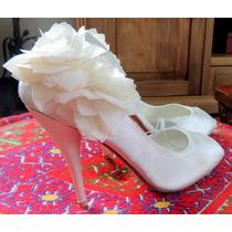 Zapatos Fiesta Taco Blancos