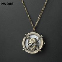 Collar Reloj Estilo Piratas Calavera Craneo
