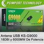Antena Usb Wifi 6000mw 18dbi Realtek 8070 + Potente + Barata