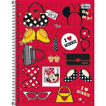 Caderno Universitário 20 Matérias Minnie 4oo Fls Tilibra