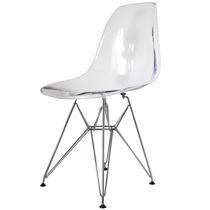 Cadeira Acrilica Charles Eames Eiffel Transparente Pe Cromo