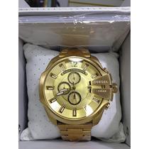 Relógio Diesel Dz Dourado Original Promoção Garantia + Envio