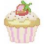 Cupcake Ponto Cruz - Coleção De Matriz De Bordado