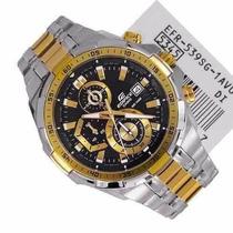 Relógio Cassio Edifice Efr-539 Dourado Com Cinza Completo