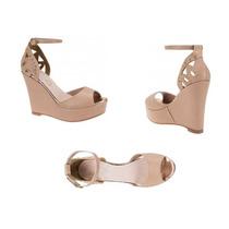 Sandalia Casual Con Plataforma Vi Line Fashion 1730 Beige
