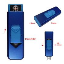 Encendedor Electrico Cigarros Resistencia Recargable Usb Azu