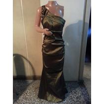 Vestido Largo De Noche De Taftan T S Y M $ 1400 Espectacular
