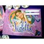 Tarjeta Invitacion + Sobre Violetta Artistas Online C/u