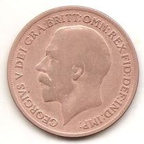 Moneda Inglaterra Gran Bretaña One 1 Penny Año1919-muy Buena