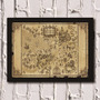Poster Com Moldura Harry Potter - Map