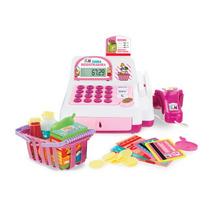 Caixa Registradora Infantil Com Luz E Som Rosa Multikids