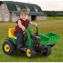 Tractor Eléctrico Mini 6 Volt Cargador Frontal John Deere