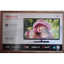 Televisor Marca Toshiba 32¨ Led Slim, Modelo 32l1400, Nuevo