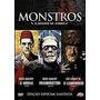 Box Monstros Clássicos Do Terror Dvd Mumia Lobisome Frankens