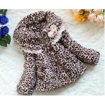 Casaco De Pele Sintética Oncinha (leopardo) - Meninas