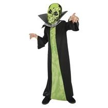 Disfraz De Marciano Alien Zombie Niño Talla 7 A 8 Años