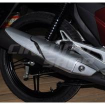 Adesivo Protetor Fibra Escape Moto Honda Fan Titan 150 >2