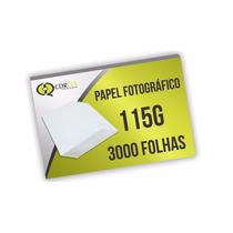 Papel A4 Fotográfico, 115g Glossy Auto Brilho - 3000 Folhas