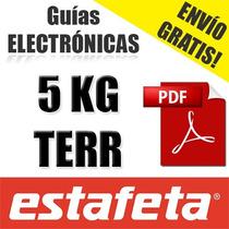Guia Electronica Estafeta Terrestre, Digital Envío Gratis