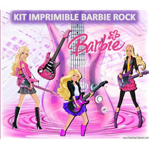 Kit Imprimible Barbie Rock