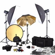Nuevo Kit Fotografico Estudio Iluminacion Fotografia 900w