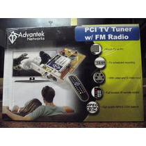 Tarjeta Pci Tv Tuner W/fm Radio Marca Advantek ***nueva***