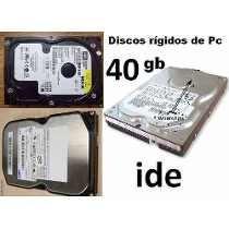 Discos Rigidos De 40 Gb Ide, Excelentes!!!