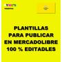 Plantillas Para Publicar En Mercadolibre 100% Editables