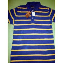 Camiseta Camisa Polo Abercrombie & Fitch Azul Hollister M