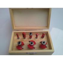 Caja De 8 Fresas De 1/4 Filos De Tungsteno Para Ruteadoras