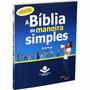 Livro A Bíblia De Maneira Simples Jovem Adolescente Adulto
