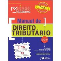 Direito Tributario 8a Ed Eduardo Sabbag 2016 Pdf Ou Epub
