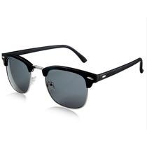 Lentes Gafas De Sol Tipo Clubmaster Negro Excelente Calidad